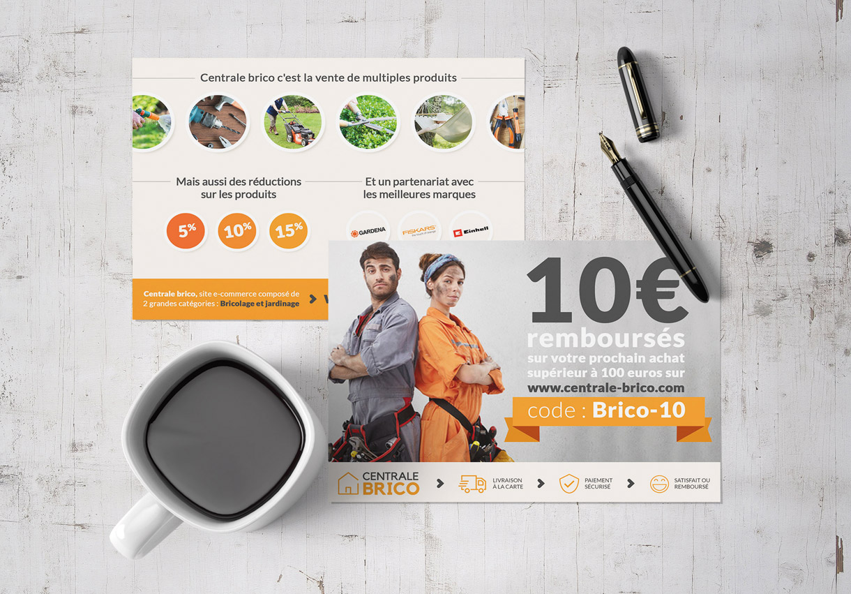 Création d'un flyer pour Centrale-brico, N°1 du Bricolage en ligne