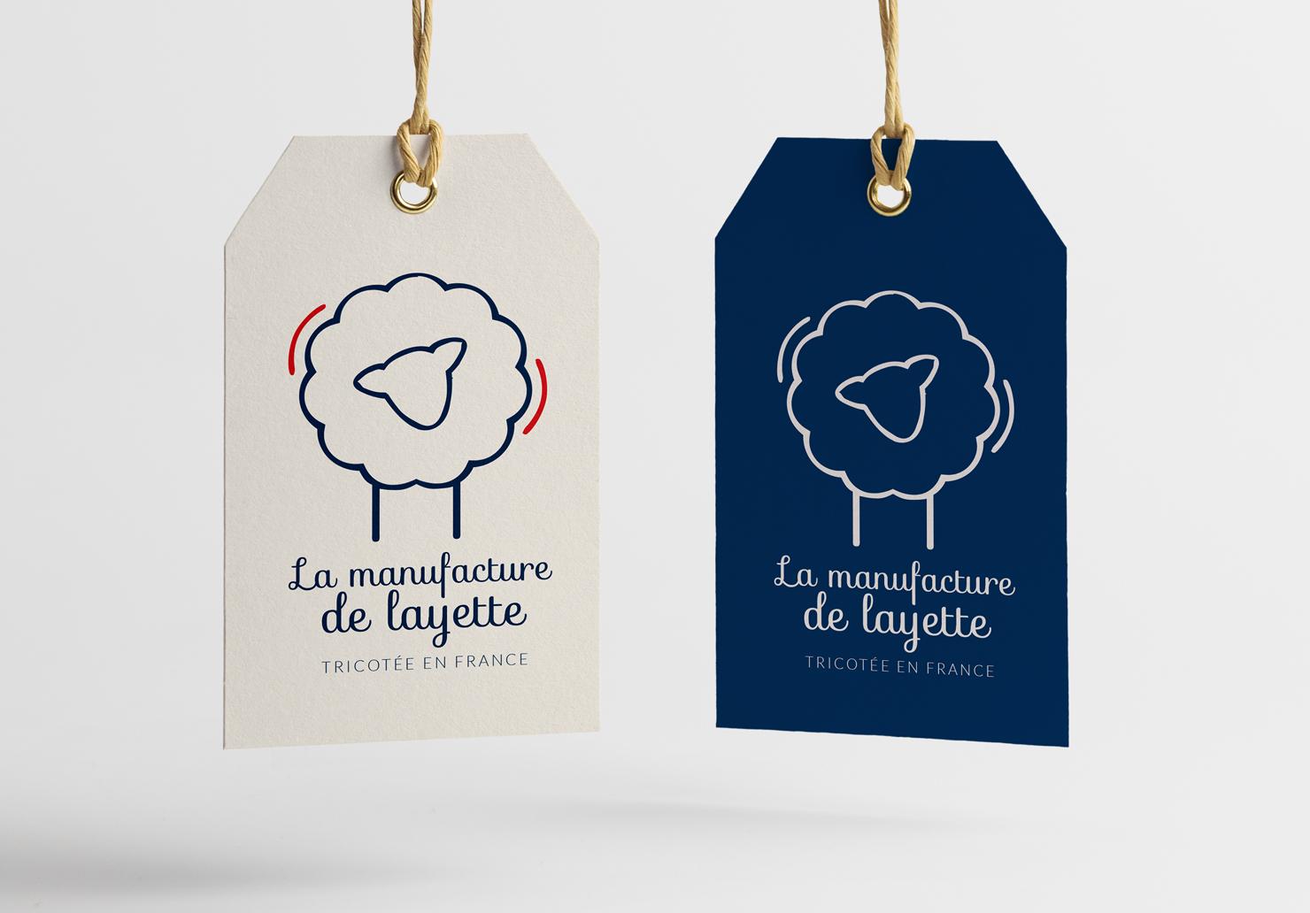 Logos La Manufacture de Layette - Création de logos par Emilie Le Béhérec, graphiste freelance spécialisée dans le domaine de l'enfance