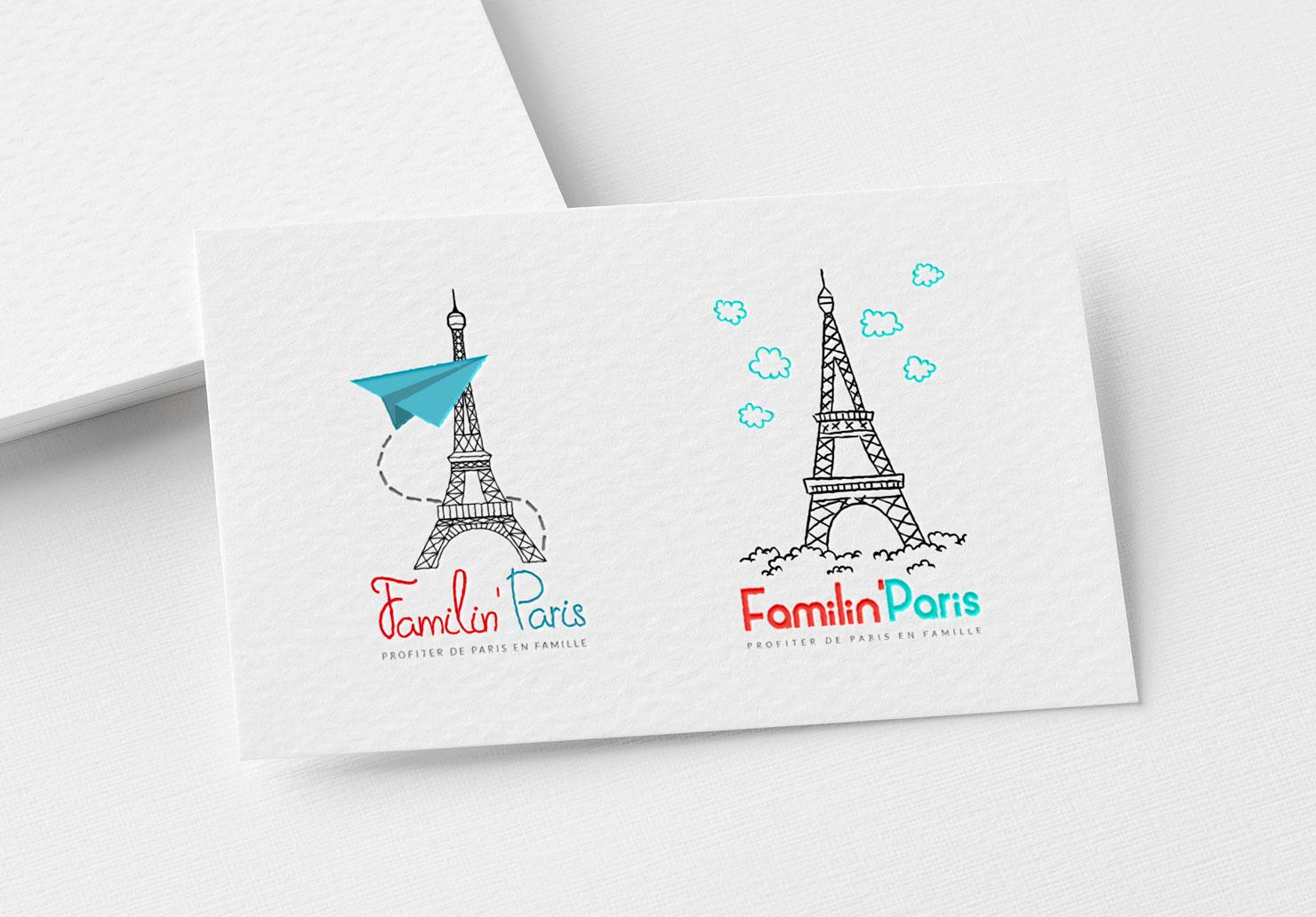 Logo Familin'Paris - Création de logo par Emilie Le Béhérec Prima, Graphiste freelance dans le domaine de l'enfance