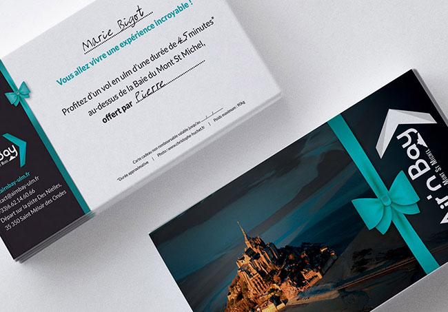 Carte cadeau Air'n Bay - Création de cartes cadeaux par Emilie Le Béhérec, graphiste freelance en Bretagne