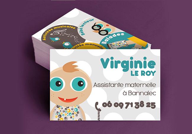 Carte de visite Assistante maternelle - Création de carte de visite par Emilie Le Béhérec Prima, Graphiste freelance dans le domaine de l'enfance