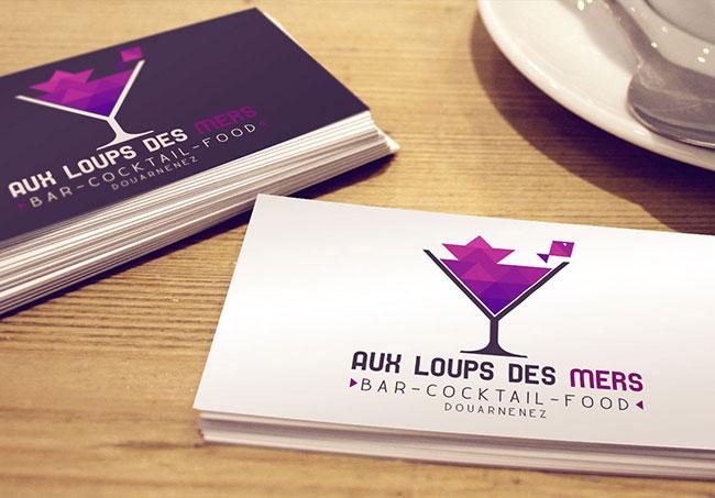 Logo Aux Loups des Mers - Création de logo par Emilie Le Béhérec, graphiste freelance dans le Finistère