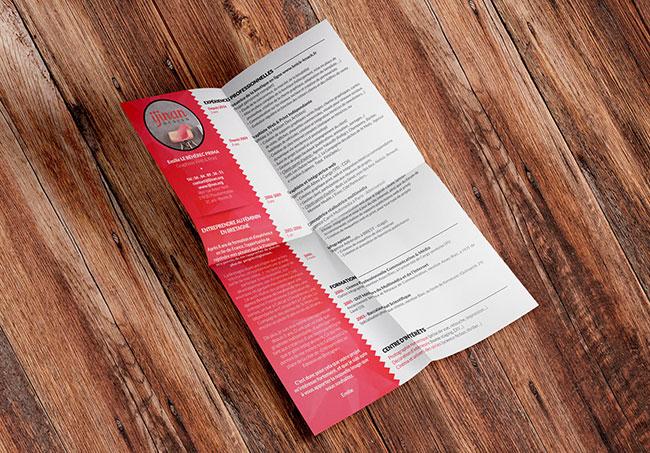 CV ijinanDesign - Mise en page de CV par Emilie Le Béhérec Prima, graphiste web et print