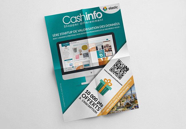 Flyers CashInfo - Création dde flyers par Emilie Le Béhérec Prima, graphiste freelance web et print