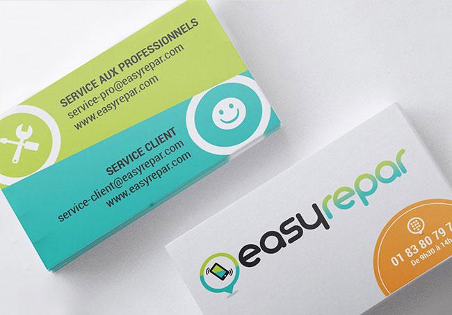 Carte de visite EasyRepar - Création de cartes de visite par Emilie Le Béhérec Prima, graphiste freelance depuis 2009