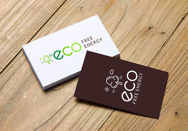 Logo Eco Free Energy - Création de logo par Emilie Le Béhérec Prima (Graphiste freelance web et print)