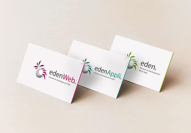 Logos EdenWeb - Création de logos par Emilie Le Béhérec Prima - Graphiste Freelance depuis 2009