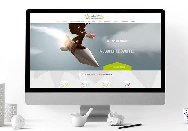 Site internet EdenWeb - Création de site internet par Emilie Le Béhérec Prima - Graphiste Freelance depuis 2009