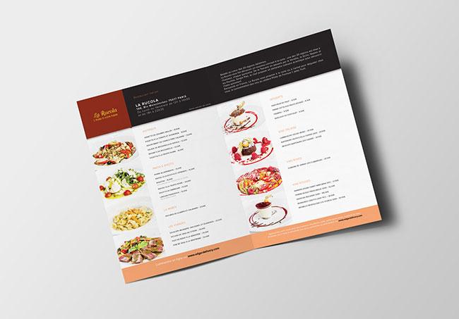 Menu EdgarDelivery - Création de menu par Emilie Le Béhérec Prima, graphiste freelance depuis 2009