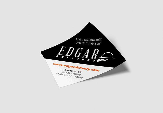 Stickers EdgarDelivery - Création de stickers par Emilie Le Béhérec Prima, graphiste freelance depuis 2009