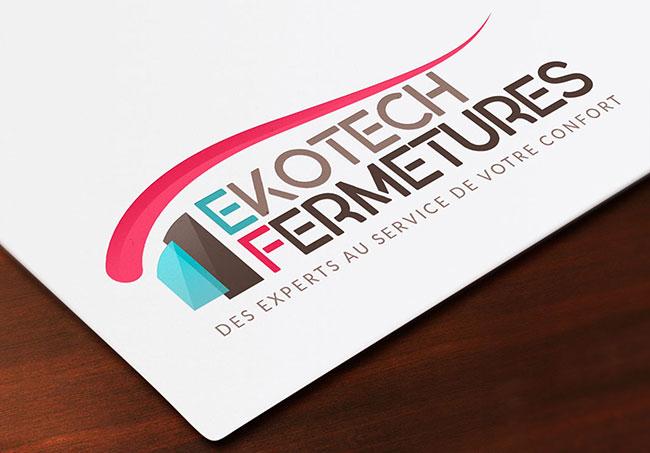 Logo Ekotech Fermetures - Création de logos par Emilie Le Béhérec Prima, graphiste freelance dans le Finistère