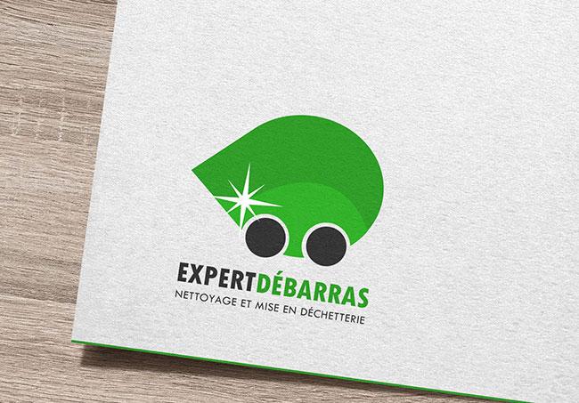 Logo Expert Débarras - Création de logo par Emilie Le Béhérec Prima (Graphiste freelance web et print)