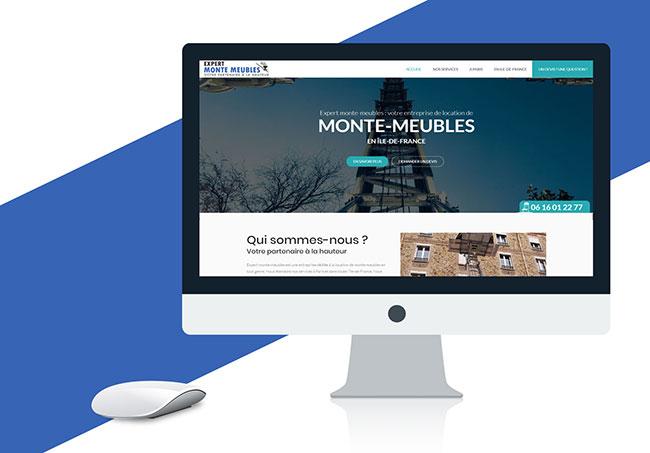Site internet Expert Monte Meubles - Création de site internet par Emilie Le Béhérec Prima (Graphiste freelance web et print)