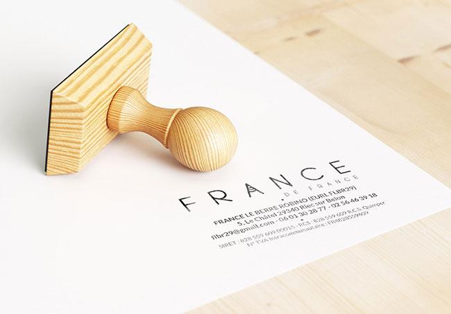 Tampon France de France - Réalisé par Emilie Le Béhérec Prima (Graphiste freelance web et print)