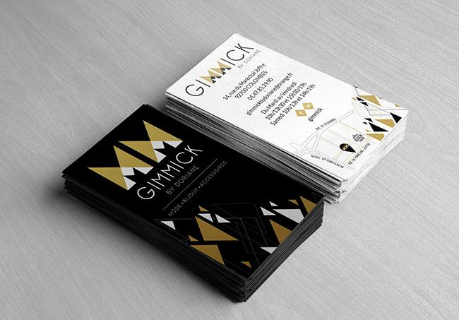 Carte de visite Gimmick - Création de cartes de visite par Emilie Le Béhérec Prima (Graphiste freelance web et print)