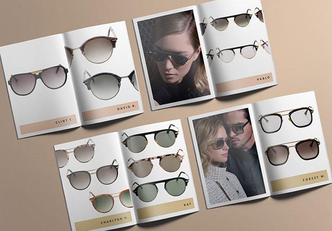 Catalogue John Dalia - Création de catalogues produits par Emilie Le Béhérec, graphiste freelance depuis 2009