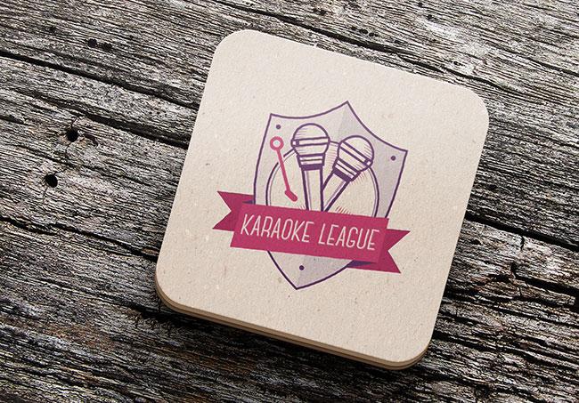 Logo Karaoké League - Création de logo par Emilie Le Béhérec Prima, Graphiste freelance depuis 2009