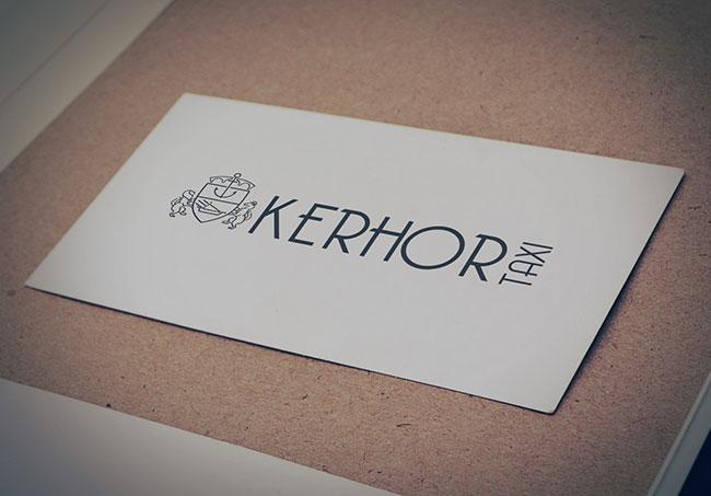Logo Kerhor Taxi - Création de logo par Emilie Le Béhérec Prima, Graphiste freelance depuis 2009