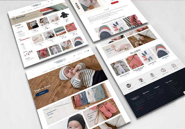 Site internet La Manufacture de Layette - Création de site internet par Emilie Le Béhérec, graphiste freelance spécialisée dans le domaine de l'enfance