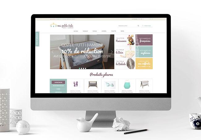 Amélioration du site Ma Petite Liste - Améliorations de site internet par Emilie Le Béhérec Prima, graphiste freelance spécialisée dans le domaine de l'enfance