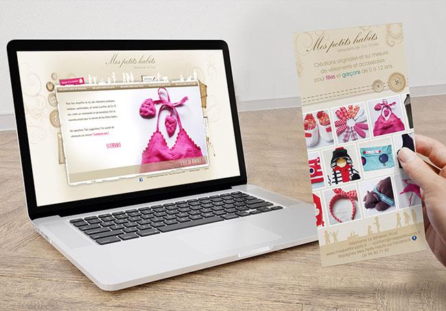 Site internet et flyer Mes Petits Habits