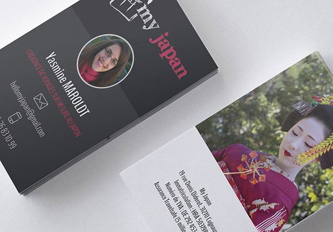 Carte de visite My Travel Designer - Création de cartes de visite par Emilie Le Béhérec Prima, graphiste web et print