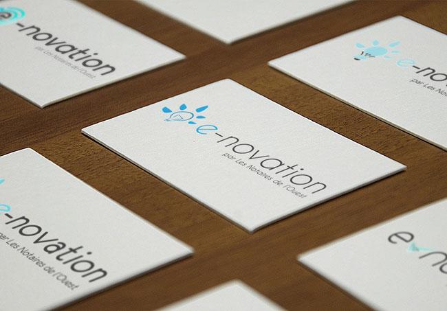 Logo e-novation (Notaires Bretons) - Création de logo par Emilie Le Béhérec Prima (Graphiste freelance web et print)