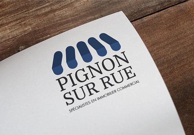Logo Pignon sur Rue - Création de logos par Emilie Le Béhérec Prima, graphiste web et print