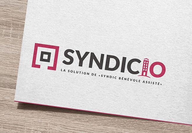Logo Syndicio - Création de logos par Emilie Le Béhérec Prima, graphiste freelance web et print