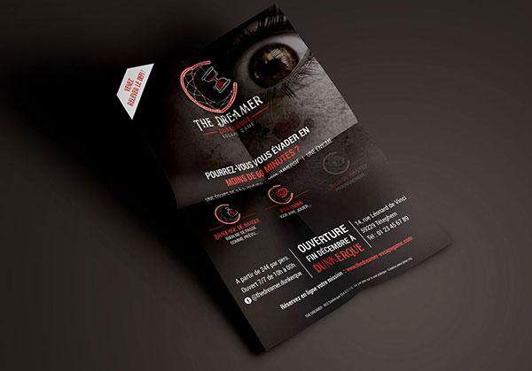 Flyer The Dreamer - Réalisé par Emilie Le Béhérec Prima - Graphiste Freelance web et print