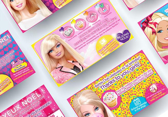 Bannières Web Barbie (Yakacéfé) - Création de bannières pub par Emilie Le Béhérec Prima, graphiste freelance spécialisée dans le domaine de l'enfance