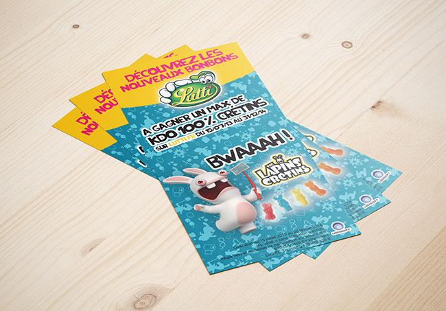 Flyer événementiel Lutti (Yakacéfé) - Création de flyers par Emilie Le Béhérec Prima, graphiste freelance spécialisée dans le domaine de l'enfance