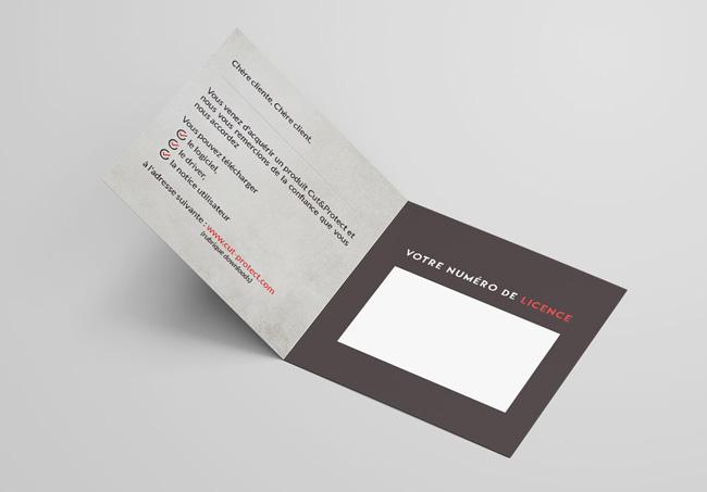 Création d'une carte de garantie pour Cut&Protect, Machine qui découpe des films de protection hydrogel pour les écrans