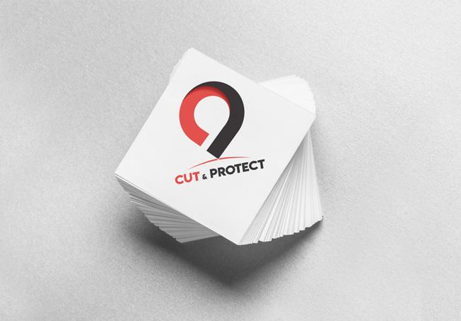 Création d'un logo pour Cut&Protect, Machine qui découpe des films de protection hydrogel pour les écrans