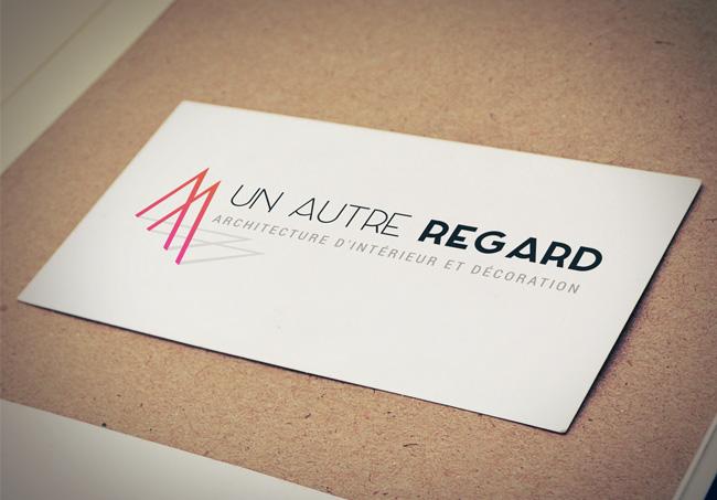 Création d'un logo pour Un Autre Regard, architecte d'intérieur