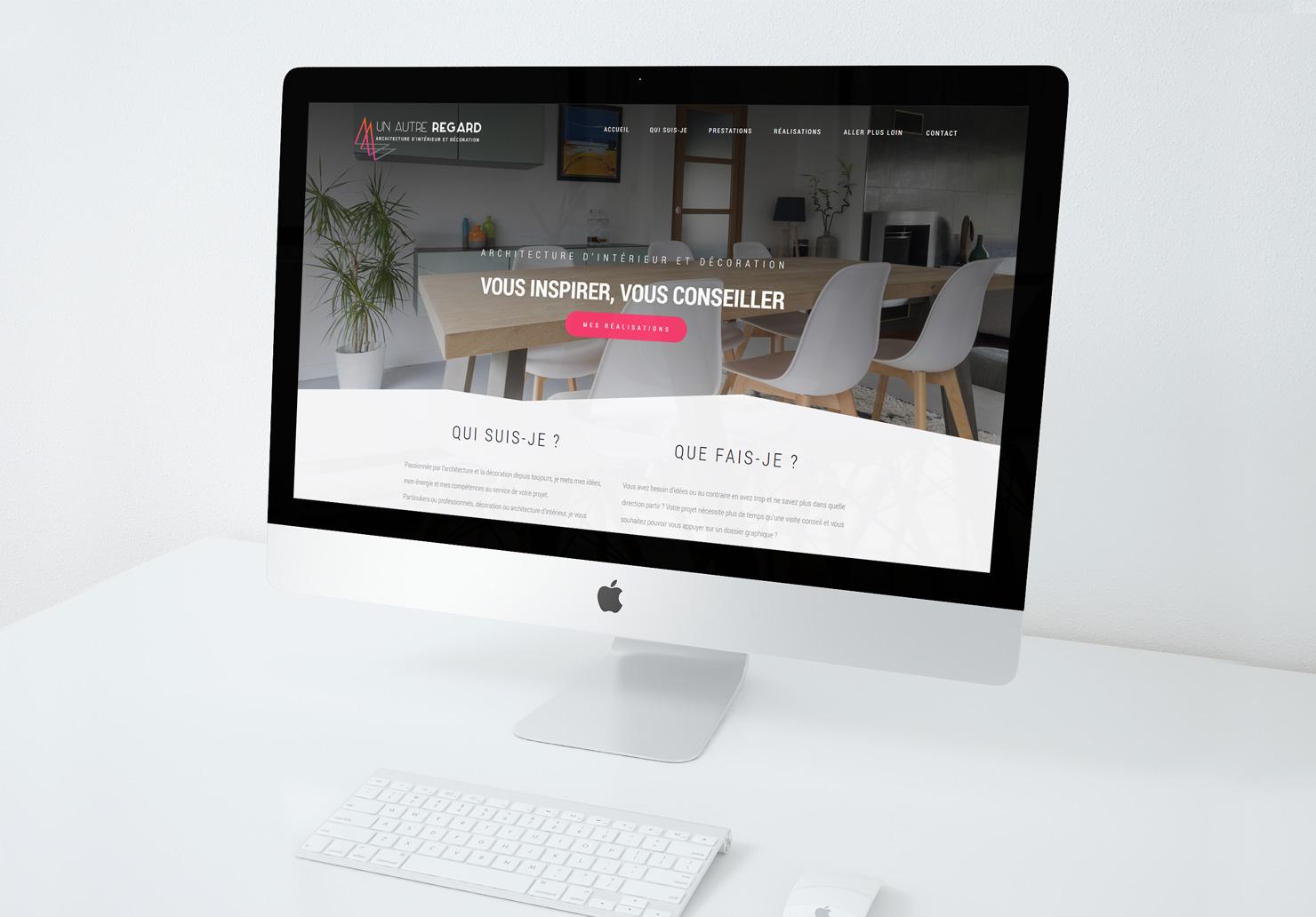 Création du site internet pour Un Autre Regard, architecte d'intérieur