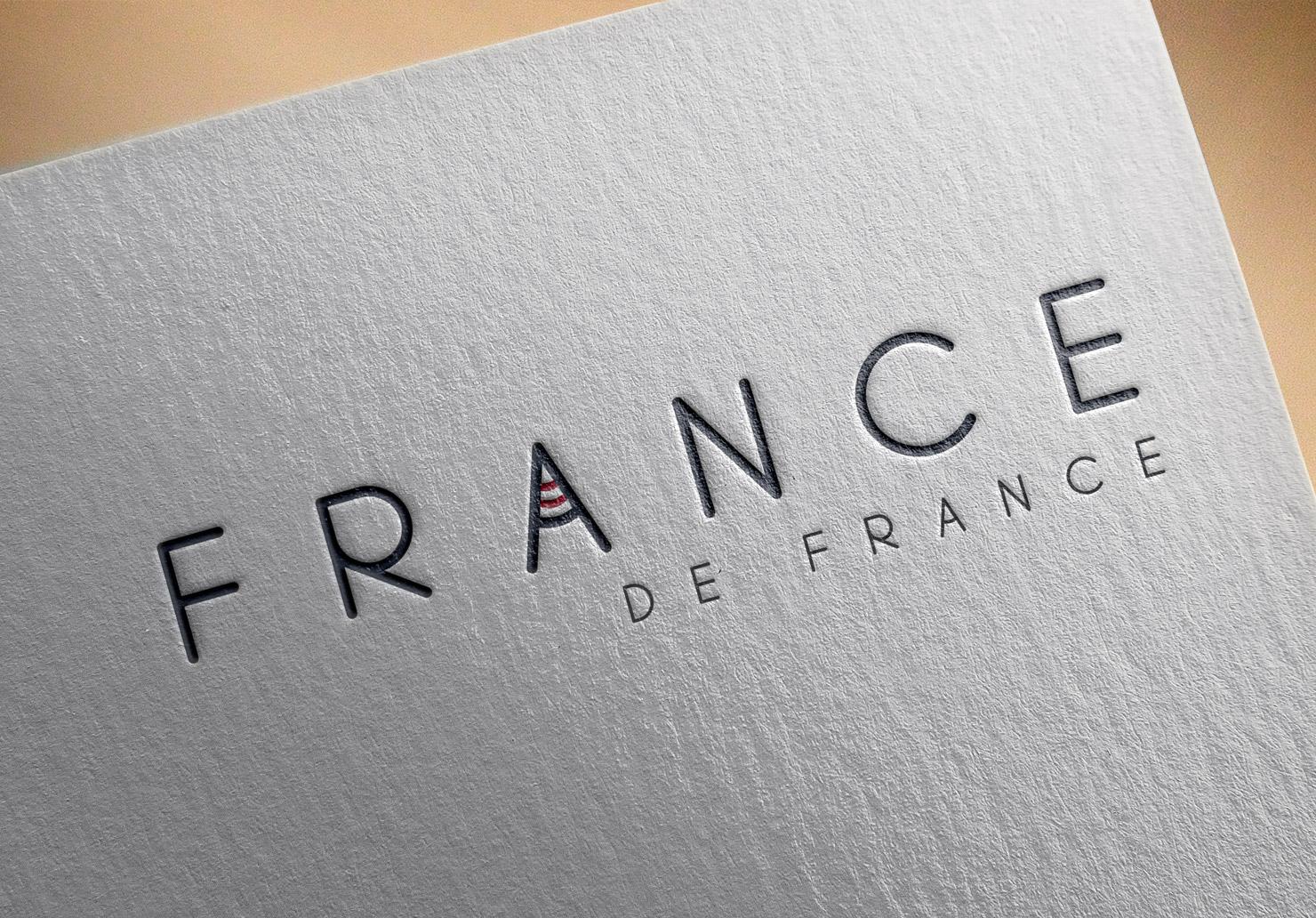 Logo France de France - Réalisé par Emilie Le Béhérec Prima (Graphiste freelance web et print)