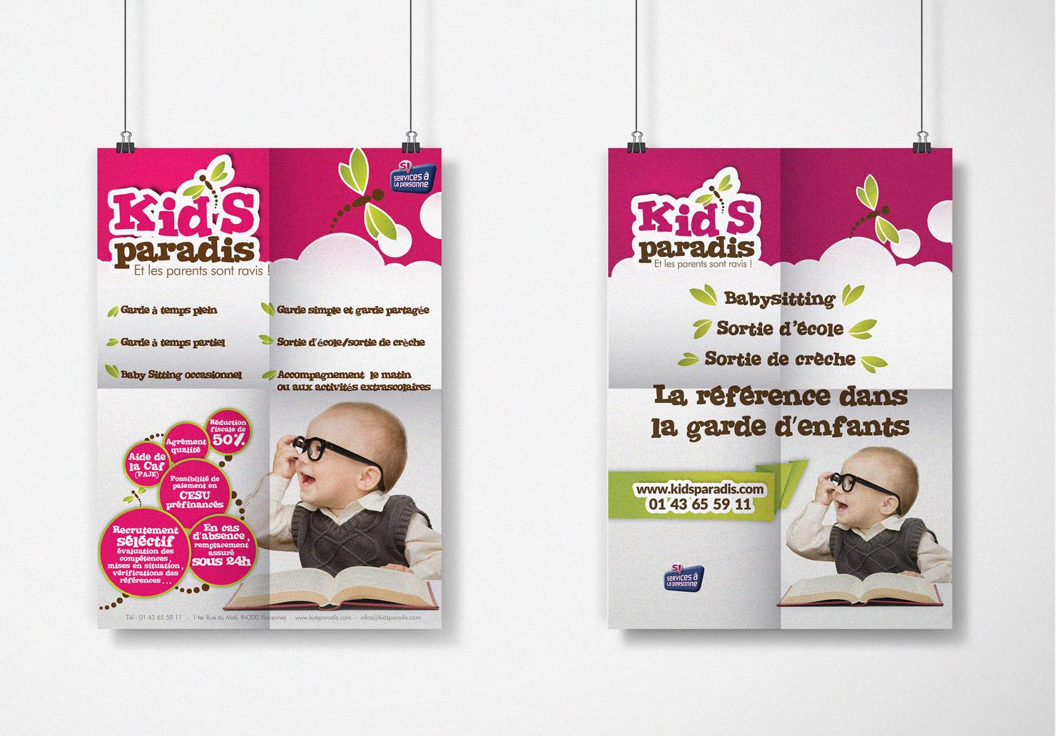 Affiche Kid's Paradis - Création d'affiche par Emilie Le Béhérec Prima, Graphiste freelance dans le domaine de l'enfance