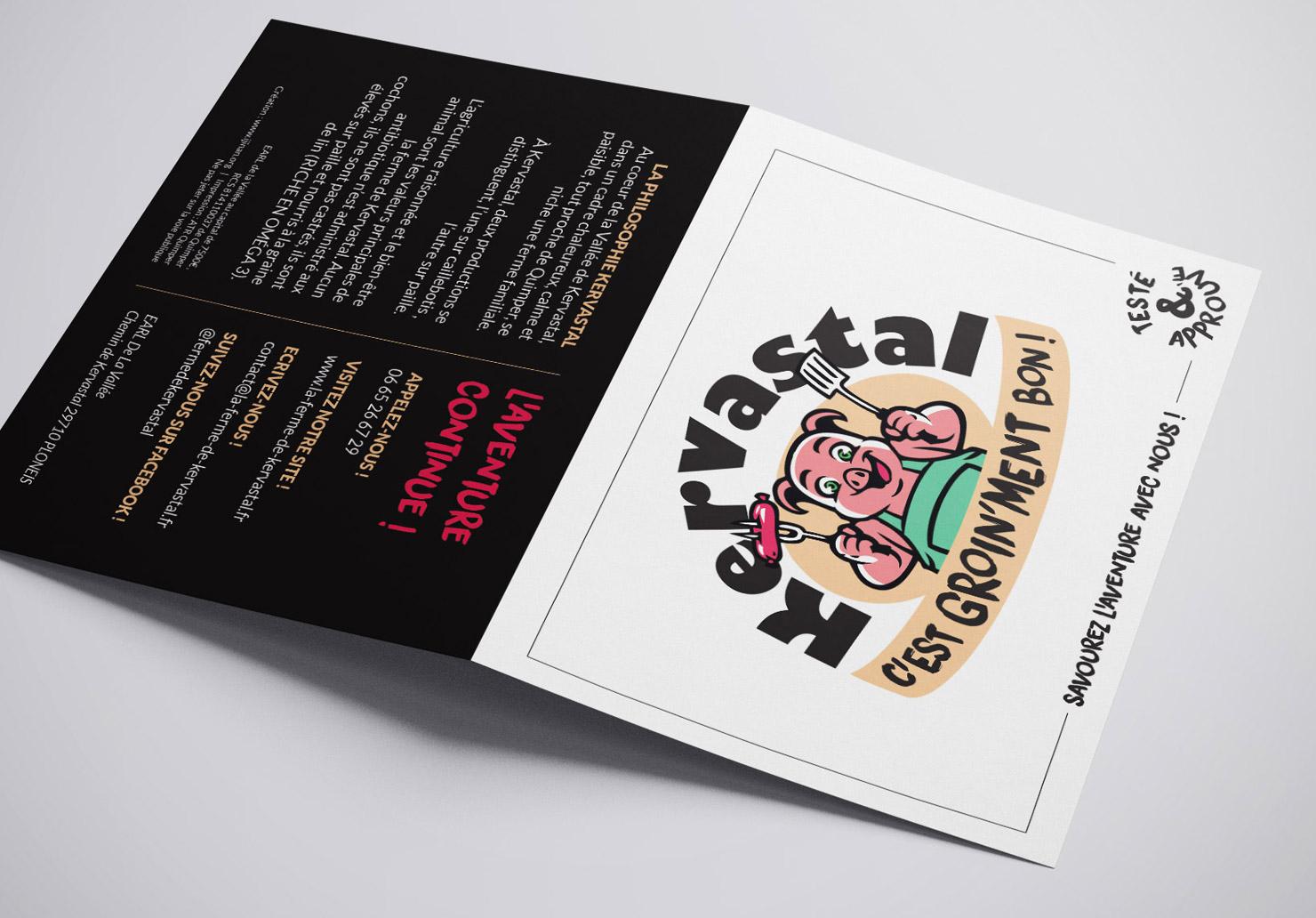 Flyer La Ferme de Kervastal - Création de flyer par Emilie Le Béhérec Prima, Graphiste freelance dans le Finistère