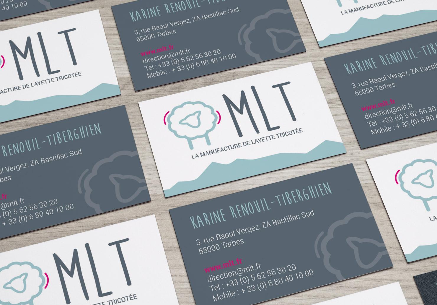 Carte de visite La Manufacture de Layette - Création de carte de visite par Emilie Le Béhérec, graphiste freelance spécialisée dans le domaine de l'enfance