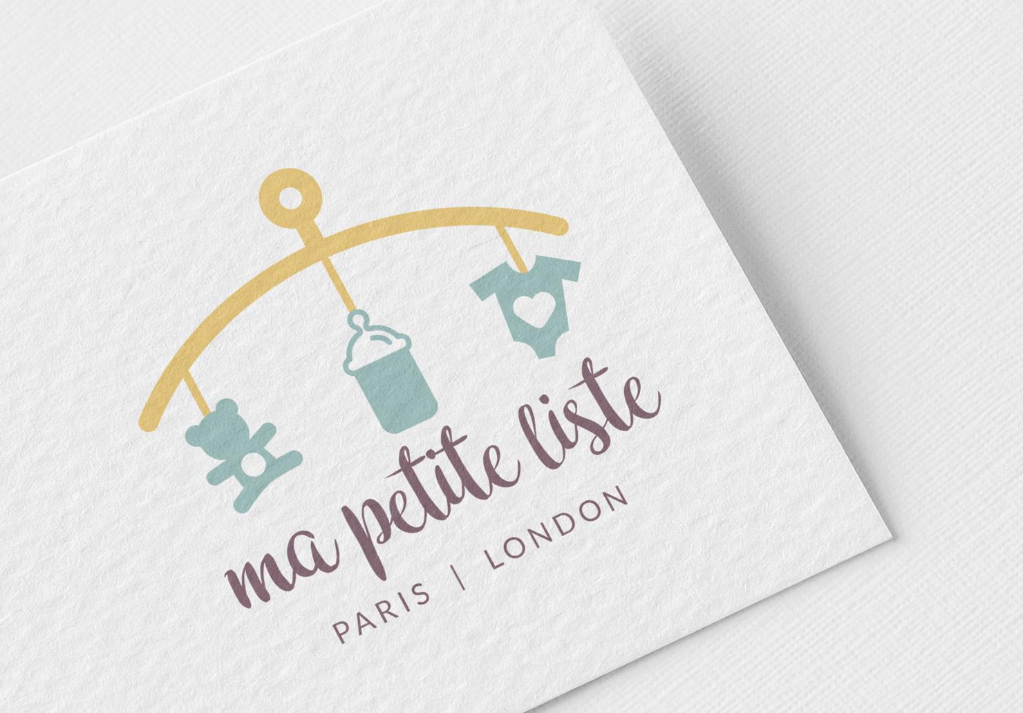 Logo Ma Petite Liste - Création de logo par Emilie Le Béhérec Prima, graphiste freelance spécialisée dans le domaine de l'enfance